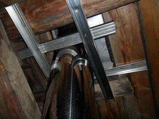 Дополнительное укрепление потолочных балок
