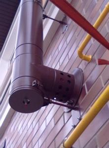 Дымовая труба, изготовленная из пластика