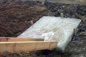 Основной этап строительства фундамента