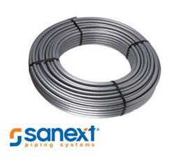 Продукция и логотип компании Sanext