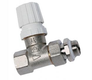 Вентиль, предназначенный для установки на трубу, параллельную стене