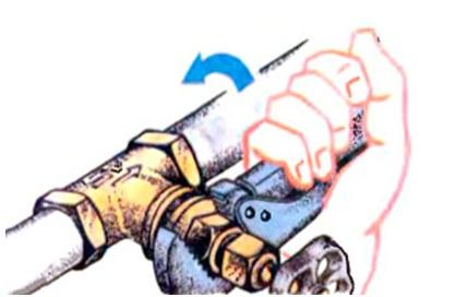 Разборка вентиля для замены прокладки