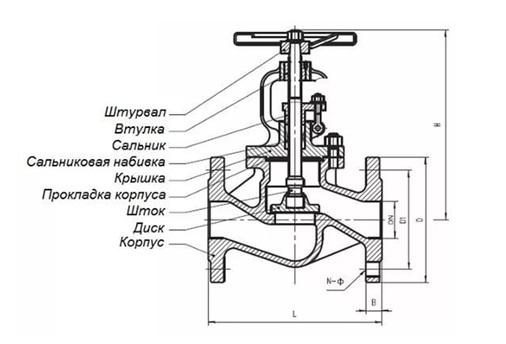 Клапан для перекрытия трубопровода