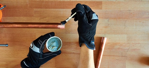 Подготовка трубы к пайке
