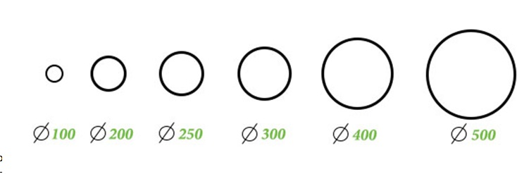 Диаметры выпускаемых асбоцементных труб