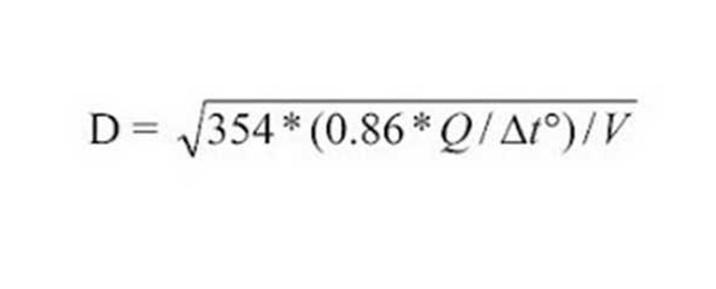 Расчет диаметра труб для системы отопления