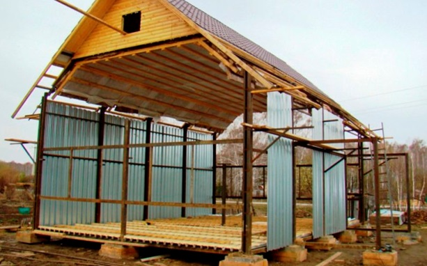 Каркас жилого строения из профильных труб