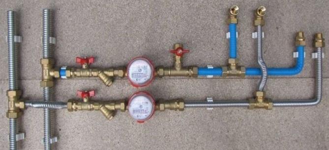 Разводка водоснабжения выполнения гофротрубами