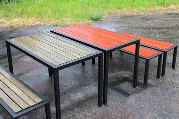 Садовая мебель из профильных труб