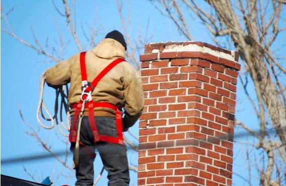 Страховка трубочиста от падения с крыши