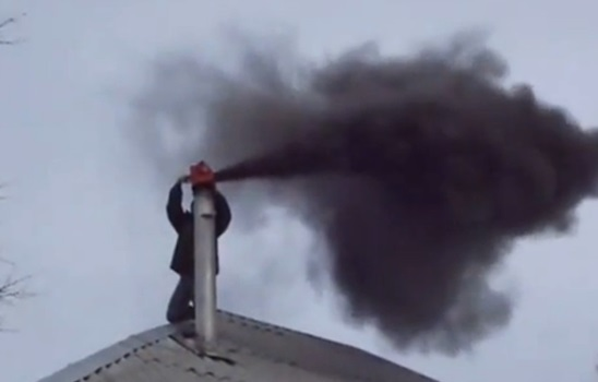 Чистка дымохода специальным оборудованием