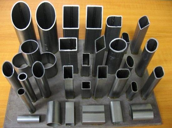 Различные формы труб из алюминия