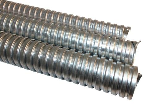 Гофрированная труба для воздуховода, изготовленная из оцинкованной стали