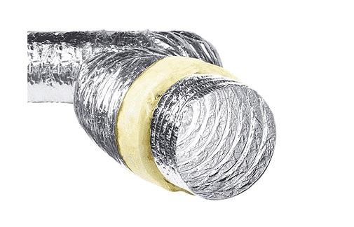 Гофрированная труба для прокладки наружного воздуховода в холодной климате