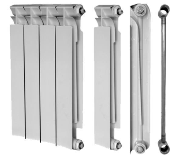 Радиатор из нескольких одинаковых элементов