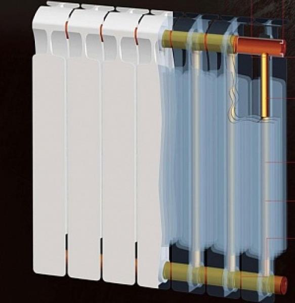 Биметаллическая литая батарея