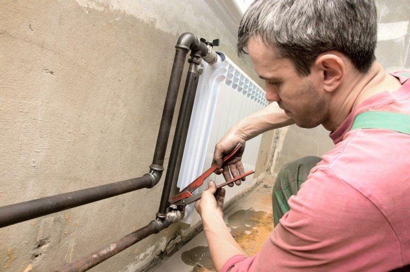 Удаление радиатора из системы отопления квартиры