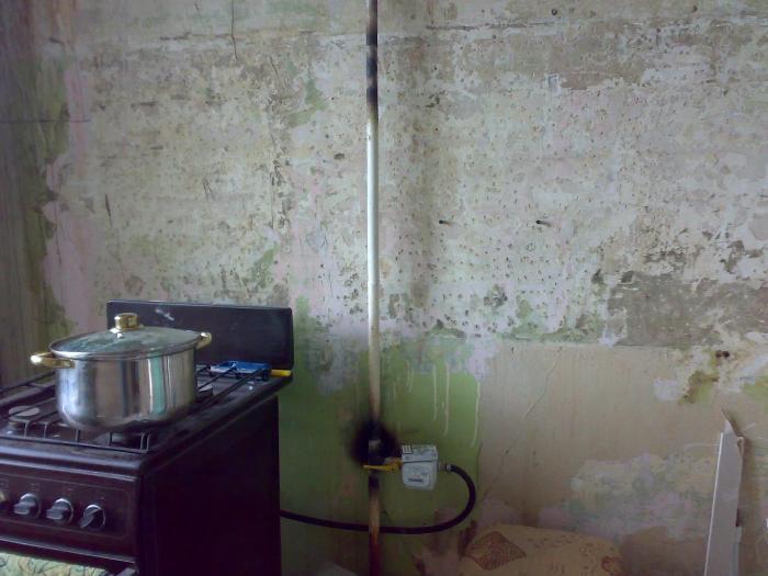 Газовые трубы в квартире