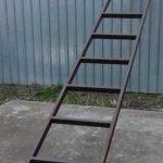 Как сделать приставную лестницу из профильных труб